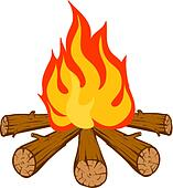 Campfire Clip Art - Royalty Free - GoGraph