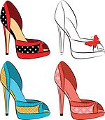 beautiful set of shoes with high he