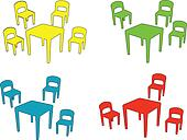 children chair and tables