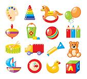 Set of pictures for a kindergarten