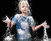 Soaking wet Young Man