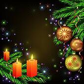 Bright celebratory Christmas card
