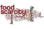 Food scarcity word cloud