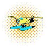 Hydroplane icon, comics style