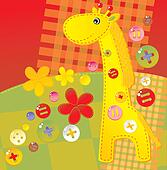 childish applique - giraffe