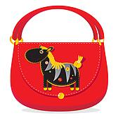 Cheerful applique bag with  zebra