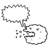 sneezing cloud cartoon