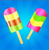 Ice cream lolly background