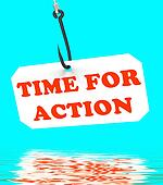 Time For Action On Hook Displays Encouragement And Great Inspira