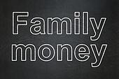 Banking concept: Family Money on chalkboard background