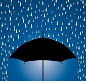 umbrella protection from rain drops