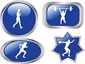 athletics buttons