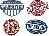 Top Secret Classified Stamps