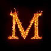 fire alphabets, M