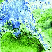 Imitation of minerals of the technician of a monotipiy by oil paint. Technology of marbleization. Vector background