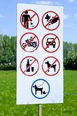 Various forbidden signs