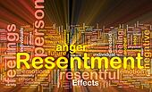 Resentment background concept glowing