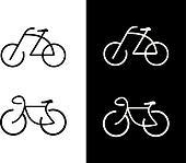 Bike, bicycle - icon