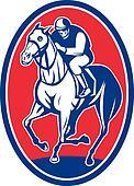jockey riding horse racing