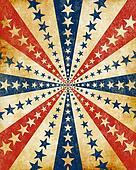 Americana Grunge Starburst