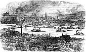 City of Pittsburgh. vintage engraving.