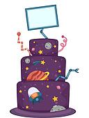 Outer Space Cake Design