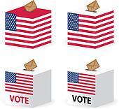 vote poll ballot box for united states