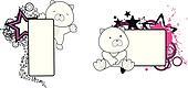 panda bear baby cartoon copyspace