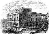 University of Halle-Wittenberg vintage engraving