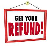 Get Your Refund Sign Money Return Back Accountant Tax Preparer