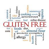 Gluten Free Word Cloud Concept