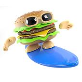 3d Surfing burger