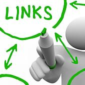 Links Connected in Network Drawn on White Board