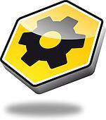 Button Cogwheel