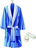 vector blue bathrobe and white slip