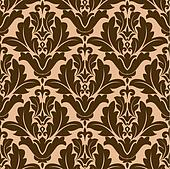 Floral damask-style repeat pattern