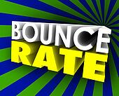 Bounce Rate 3d Words Visitor Audience Retention Internet Web Sit