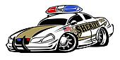 Sheriff Car Cartoon Illustration