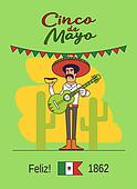 Feliz Cinco de Mayo. Mexican national fast food and guitar.