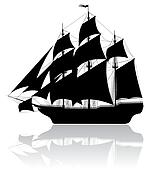 Black old ship