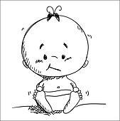 Vector baby sketch