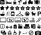 Hotel icon set illustration