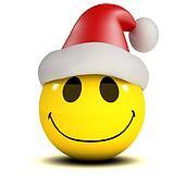 3d Smiley Santa