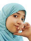 muslim little girl