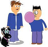 boy and bubblegum