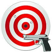 gun and target