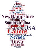 Word cloud on the Caucus in the US.