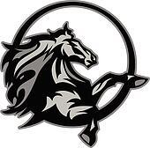 Mustang Stallion Graphic Mascot Ima