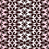 Pattern with pink ornaments