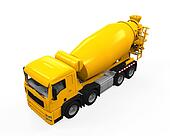 Yellow Concrete Mixer Truck